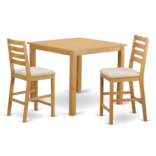 Café 3 Piece Counter Height Dining Set by Wooden Importers