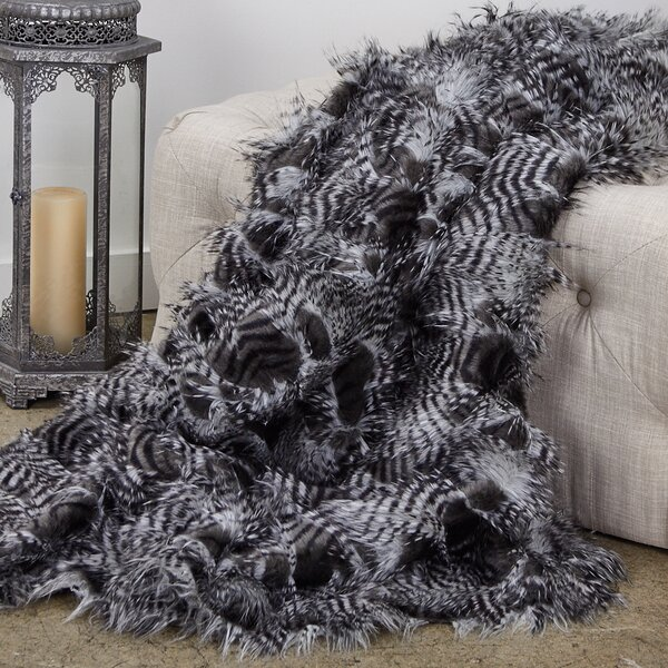 Reeder Porcupine Luxury Faux Fur Throw by Everly Quinn
