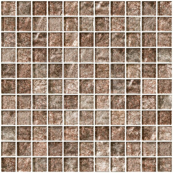 1 x 1 Glass Mosaic Tile in Silver Taupe by Susan Jablon