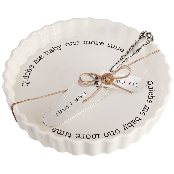 Circa 2 Piece Quiche Baker Serving Set by Mud Pie™