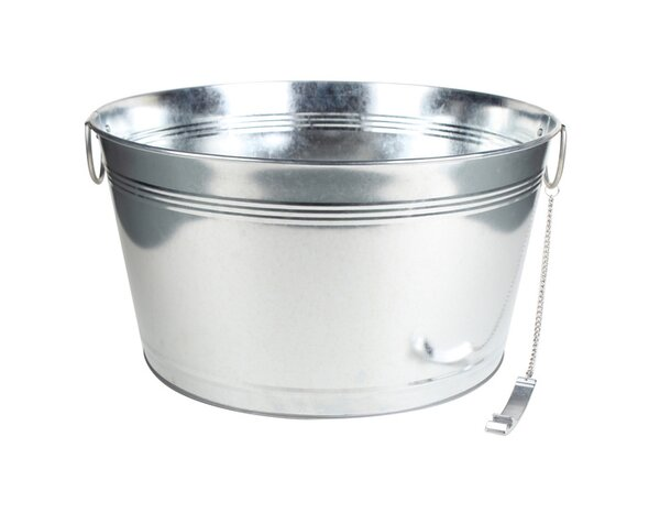 Dredge Galvanized Round Beverage Tub by Gracie Oak