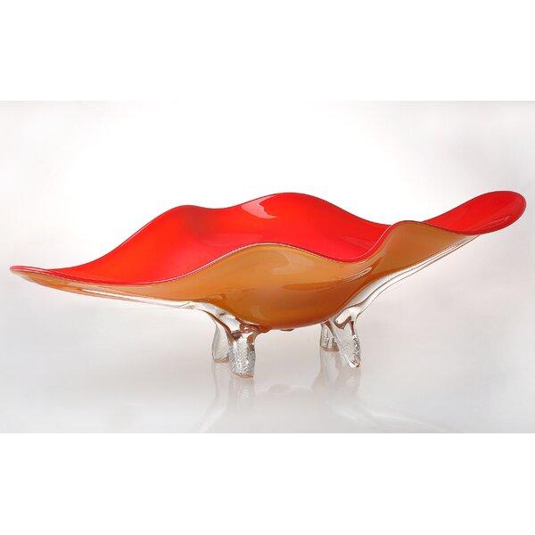 Art Glass Tabletop Platter by Viz Glass