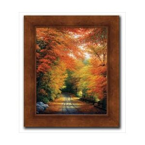 Autumn In New England by Charles White Framed Painting Print by Hadley House Co
