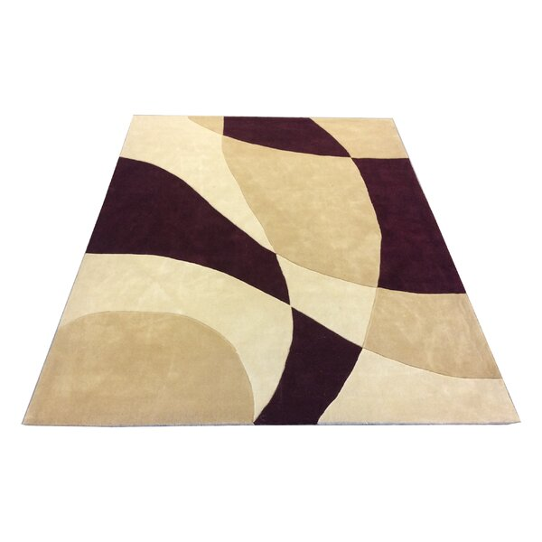 One-of-a-Kind Kohlmeier Hand Tufted Wool Ivory/Burgundy Area Rug by Latitude Run