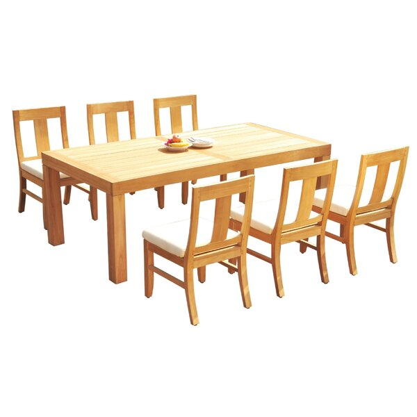 Javion 7 Piece Teak Dining Set by Rosecliff Heights