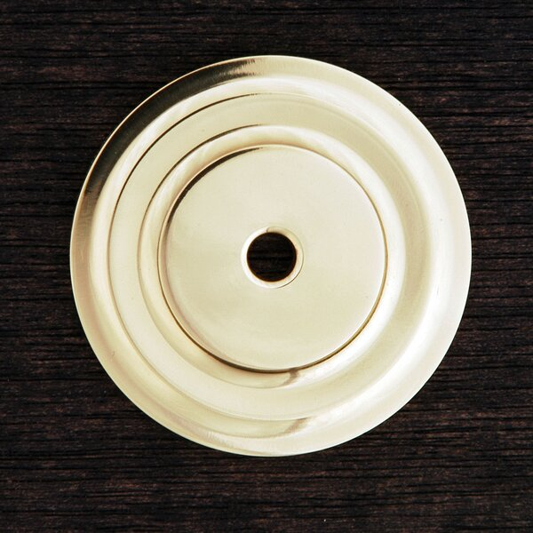 BP Series 1.63 Plain Single Knob Backplate by Rk International