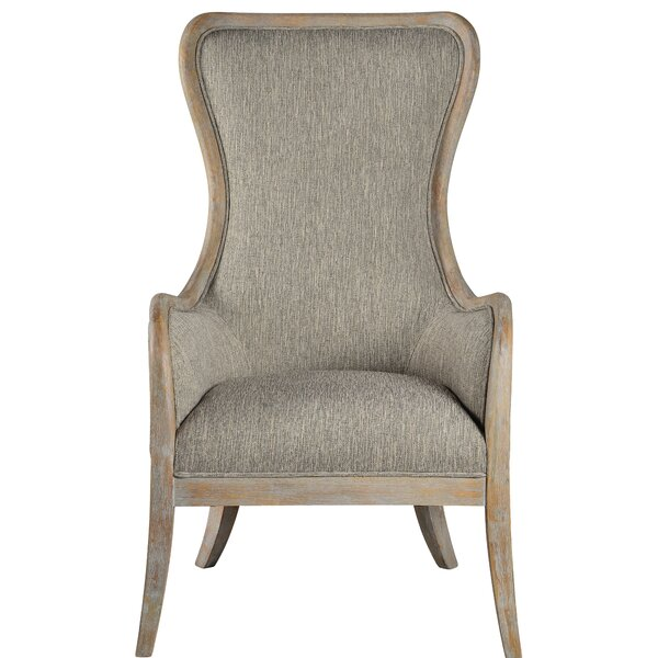 Castaneda Wingback Chair by One Allium Way