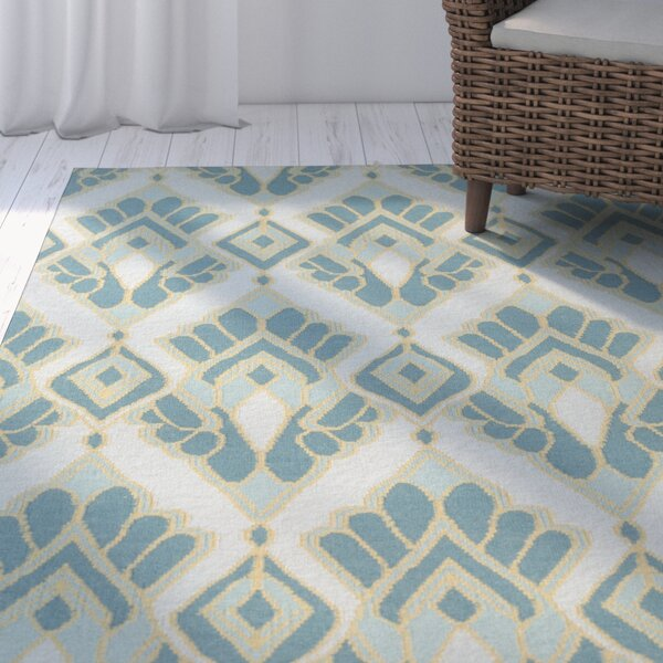 Suffield Teal Ikat/Suzani Area Rug by Rosecliff Heights