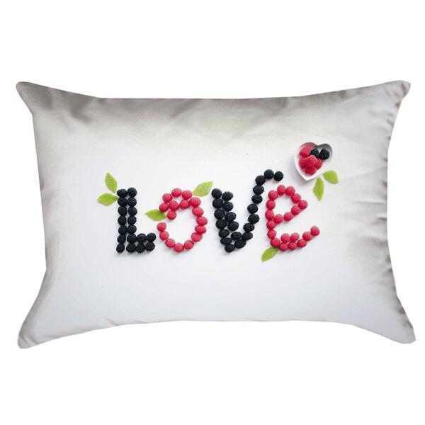 Buoi Love and Berries Lumbar Pillow by Latitude Run