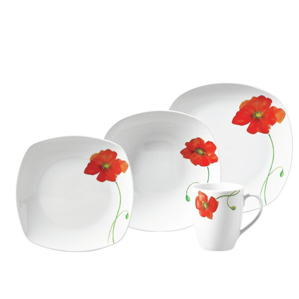 Laplante 16 Piece Dinnerware Set, Service for 4 by Winston Porter