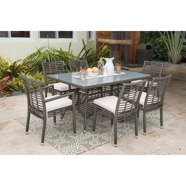7 Piece Dining Set with Sunbrella Cushions by Panama Jack Outdoor