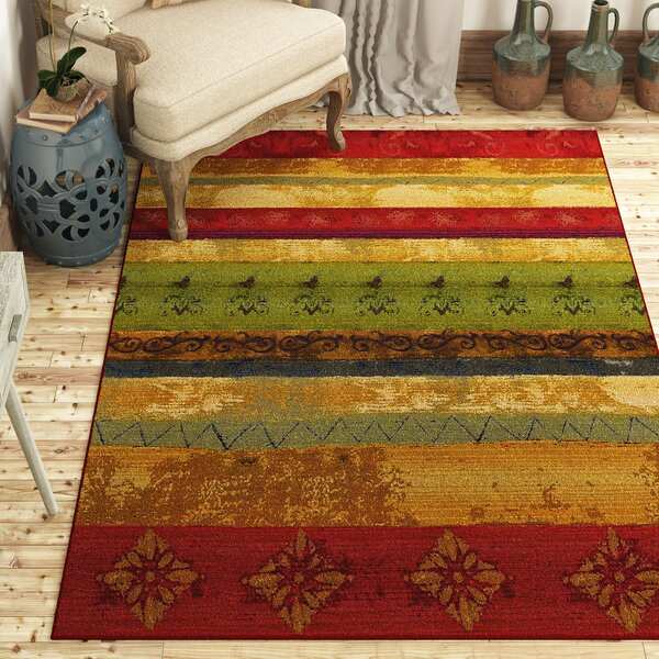 Aroma Red/Green Indoor/Outdoor Area Rug by Red Barrel Studio
