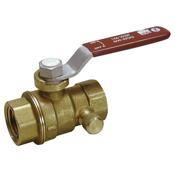 1 Low Lead Ball Valve With Auto Drain by B&K Industries