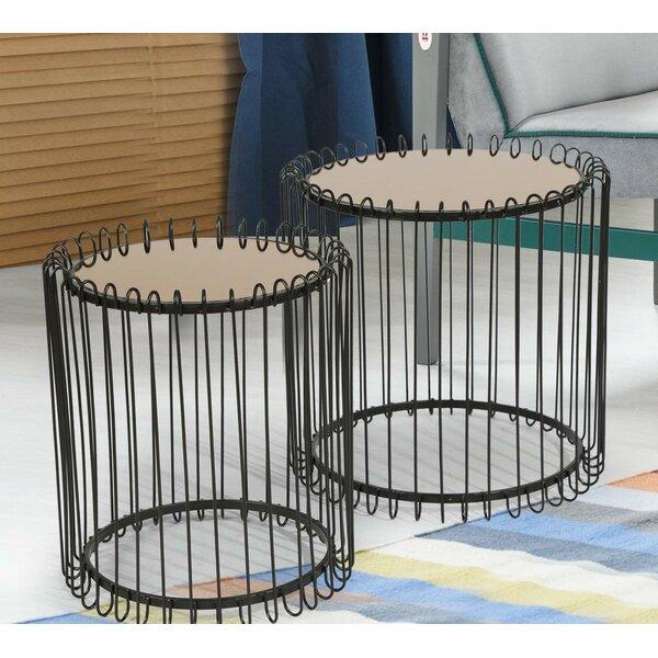 Bonniton Metal 2 Piece Nesting Tables By Brayden Studio