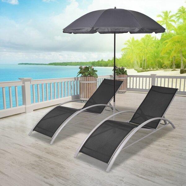 Charlita Sun Double Chaise Lounge (Set of 3) by Latitude Run