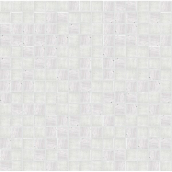Jewel 13 x 13 Glass Mosaic Tile in Semi-Gloss Gray by Mosaic Loft