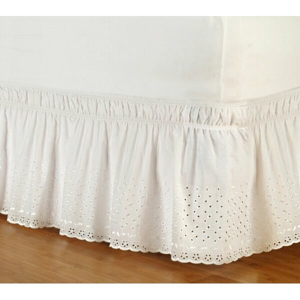 Eyelet Wrap Around 14 Bed Skirt by Dainty Home