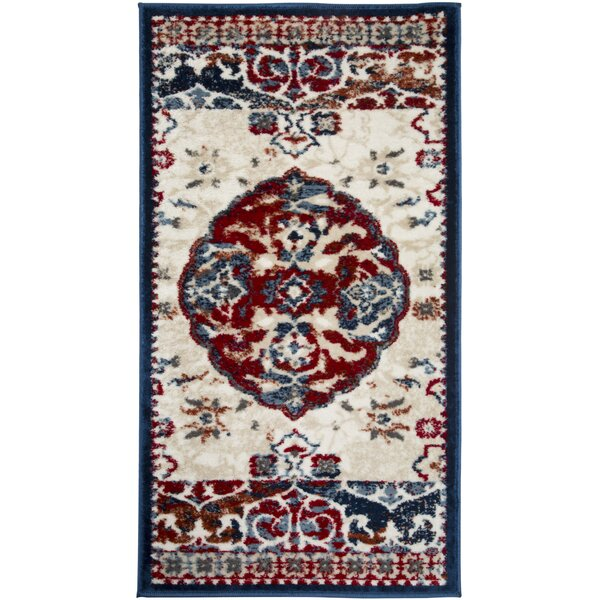 Angelyce Power Loom Red/Ivory Rug