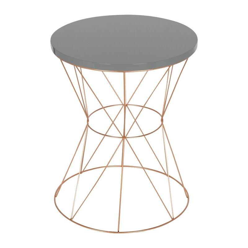 Superb Galien Round Metal End Table