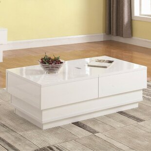 Look for Nordheim Contemporary Solid Coffee Table with Storage ByIvy Bronx