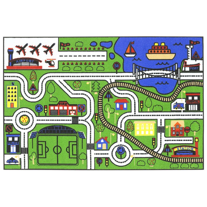 Stanton City Road Map Green Area Rug on map blanket, map math, map toys, map sheet, map cabinet, map lamp, map decor, map pouf, map quilt, map tile, map storage, map clock, map upholstery, map tree, map bag, map frame, map accessories, map trunk, map furniture, map carpet,