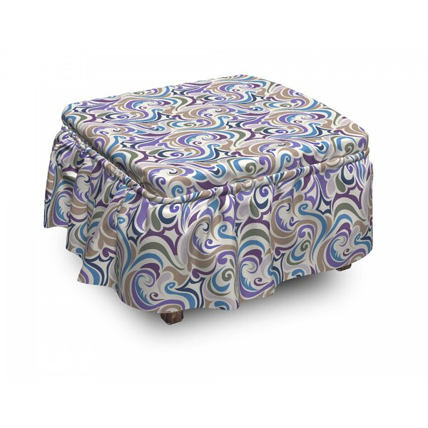Funky Asymmetrical Shapes Ottoman Slipcover (Set Of 2) By East Urban Home