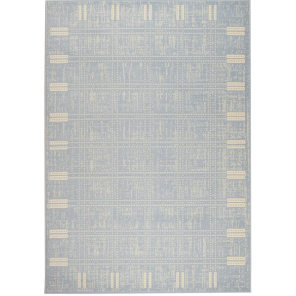 Light Blue Area Rug by Highland Dunes