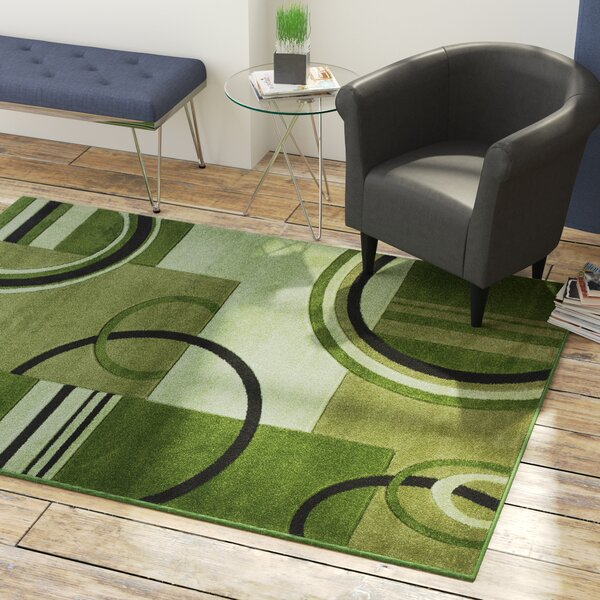 Jenkin Galaxy Waves Green Area Rug by Zipcode Design