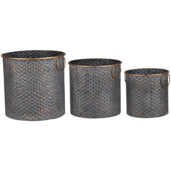 Seneca 3 Piece Metal Pot Planter Set by A&B Home