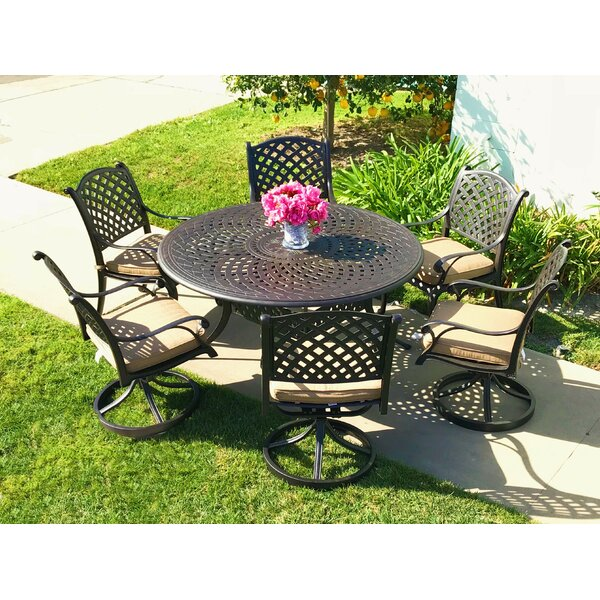 Beadle 7 Piece Sunbrella Dining Set with Cushions by Darby Home Co