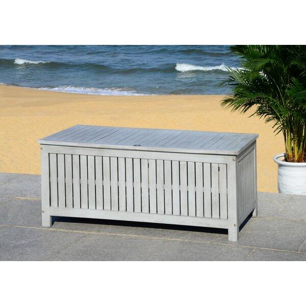 Abri Eucalyptus Wood Deck Box by Safavieh Safavieh