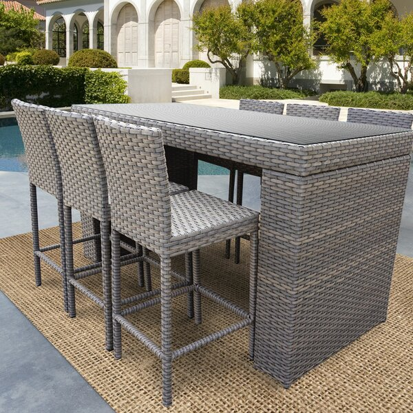 Cedarville 7 Piece Bar Height Pub Table Set by Sol 72 Outdoor Sol 72 Outdoor