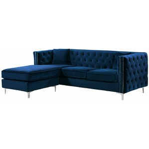 sc 1 st  Wayfair : blue velvet sectional sofa - Sectionals, Sofas & Couches