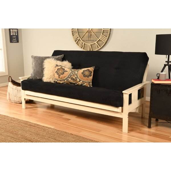 Modern Beautiful Skelly Cushion Back Futon and Mattress Hot Deals 60% Off