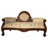 Victorian Cameo-Backed Loveseat byDesign Toscano