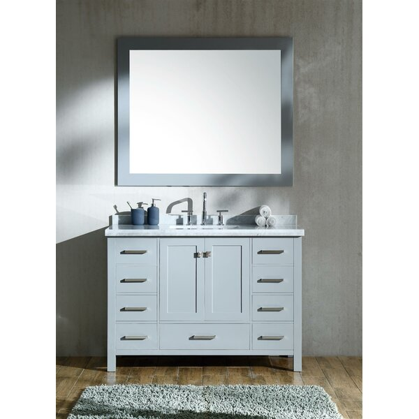 Marine 49 Single Rectangle Bathroom Vanity with Mirror by Andover Mills