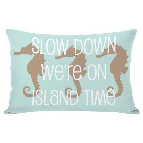 Island Time Outdoor Lumbar Pillow by One Bella Casa