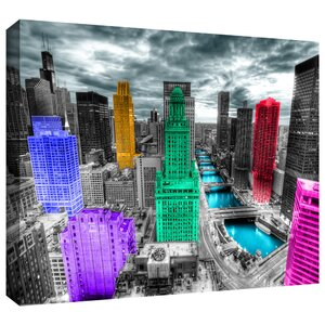 'Chicago' by Revolver Ocelot Photographic Print on Wrapped Canvas by ArtWall