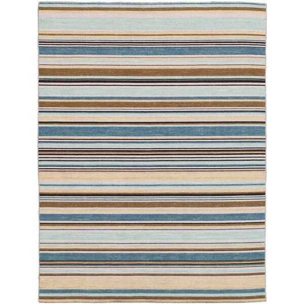 Cavanaugh Flat-Weave Pastel Yellow Area Rug by Highland Dunes