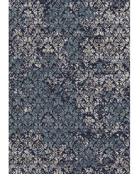 Frizzell Dark Blue Area Rug by Bungalow Rose