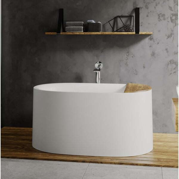 Sophia 57 x 35 Freestanding Soaking Bathtub by Aquatica