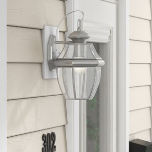 Gustavson 1-Light Traditional Outdoor Wall Lantern By Three Posts Outdoor Lighting
