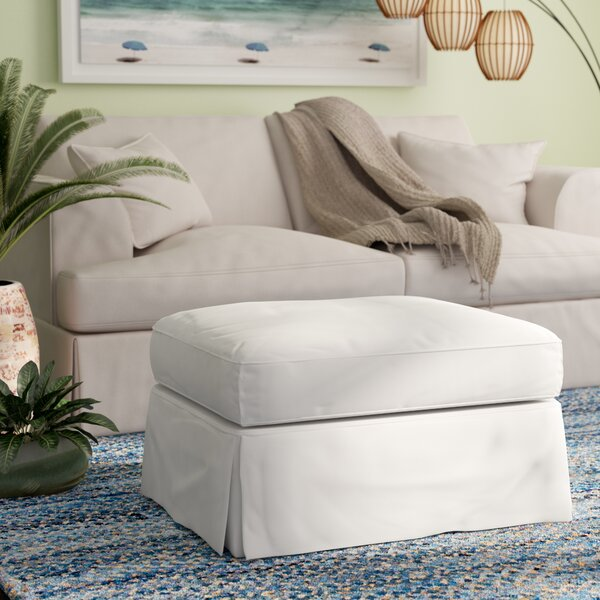 Glenhill Cotton Ottoman Slipcover by Rosecliff Heights