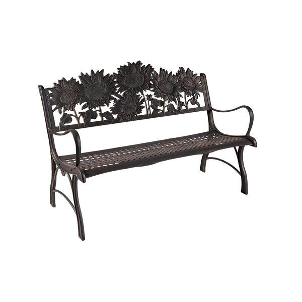Cline Sunflower Cast Iron Park Bench by Rosalind Wheeler
