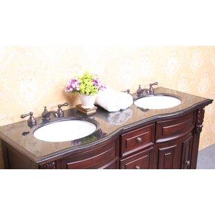 61 Inch Double Sink Vanity Top | Wayfair