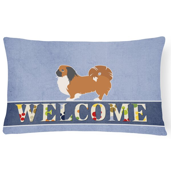 Dunigan Pekingese Welcome Lumbar Pillow by Red Barrel Studio
