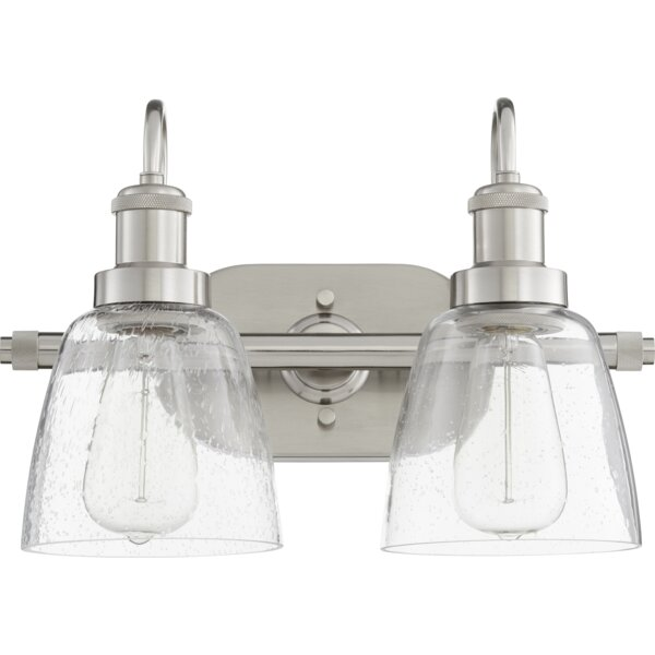 Dirksen 2-Light Vanity Light by Breakwater Bay
