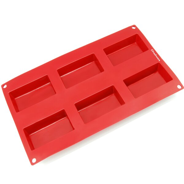 6 Cavity Rectangle Silicone Mold Pan by Freshware