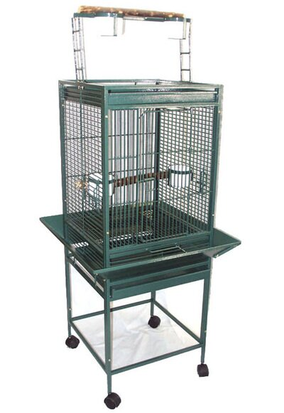 Play Top Parrot Bird Cage with 2 Feeder Doors by YML