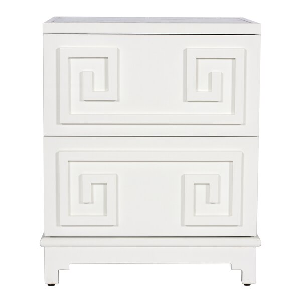 Oriental 2 Drawer Accent Chest by Worlds Away Worlds Away